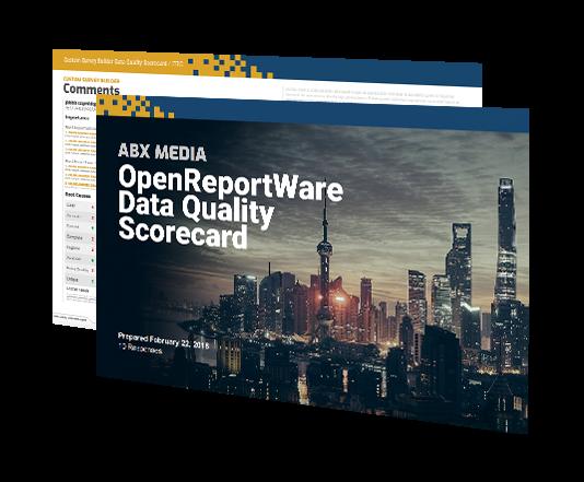 Data quality scorecard